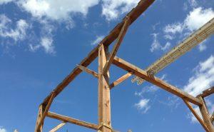 Salvaged Timber Frame Raising
