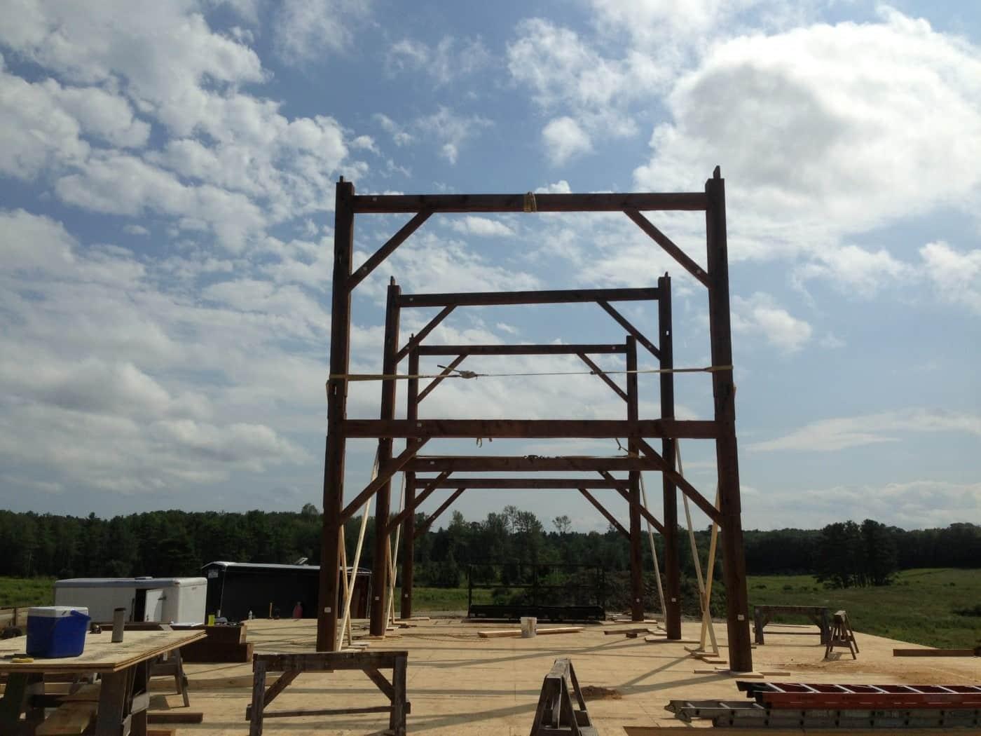 Salvaged Timber Frame