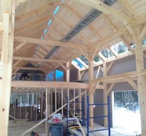 Timber Frame Interior benjamin and co