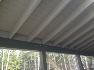 Timber Frame Porch Ceiling benjamin and co