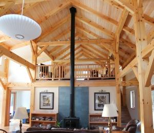 Brunswick custom timber frame home-16